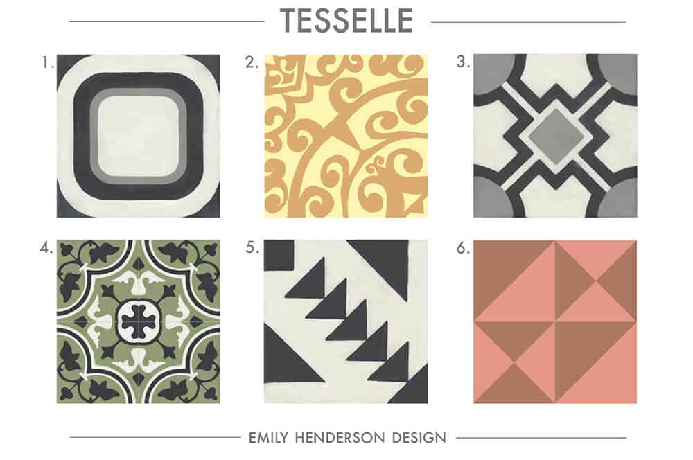 Cement Tile RoundUp Tesselle Patterned Tiles Emily Henderson
