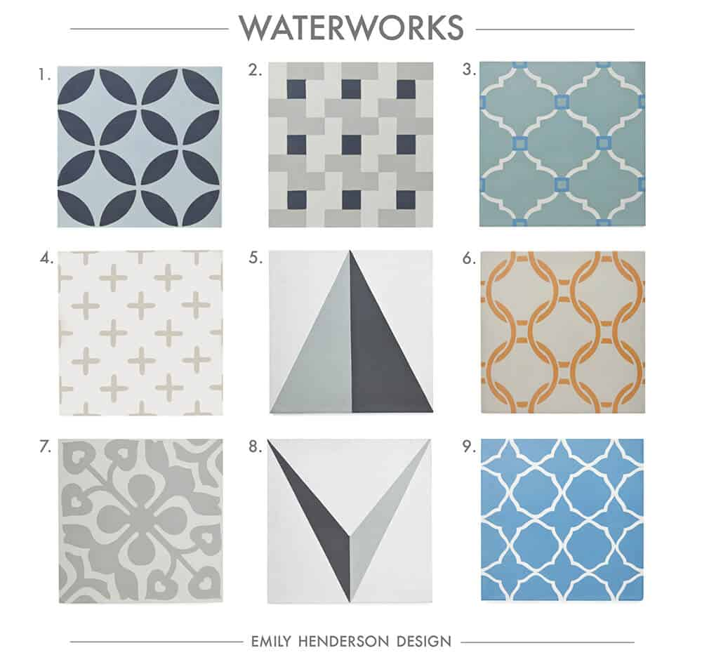 Cement Tile RoundUp Waterworks Patterned Tiles Emily Henderson