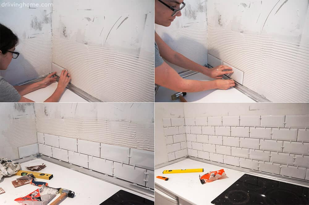 DIY Kitchen Makeover Dr Livinghome Tile Process 3