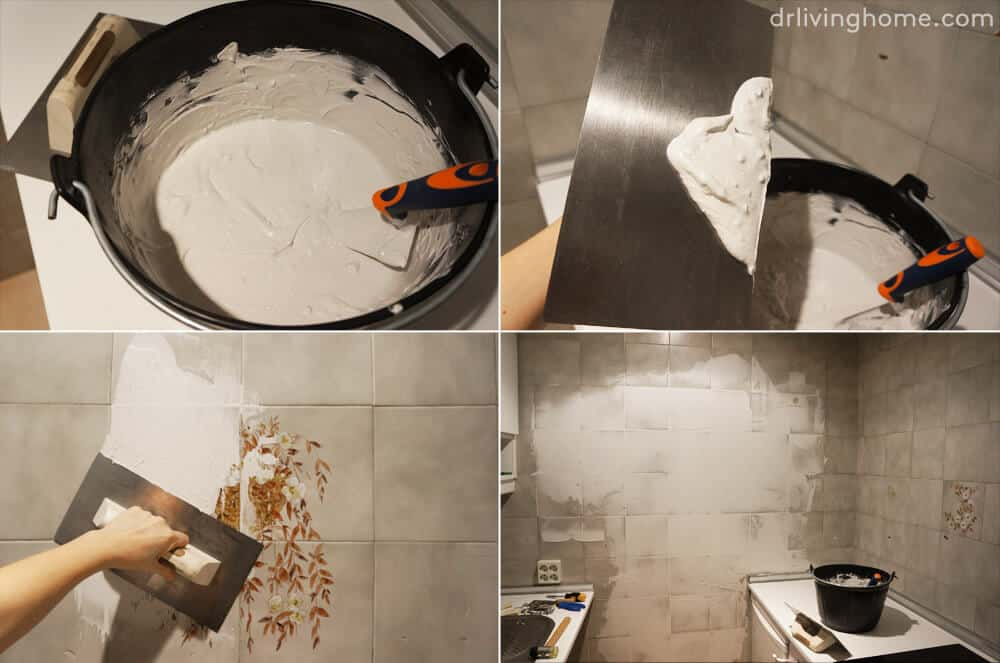 DIY Kitchen Makeover Dr Livinghome Tile Process
