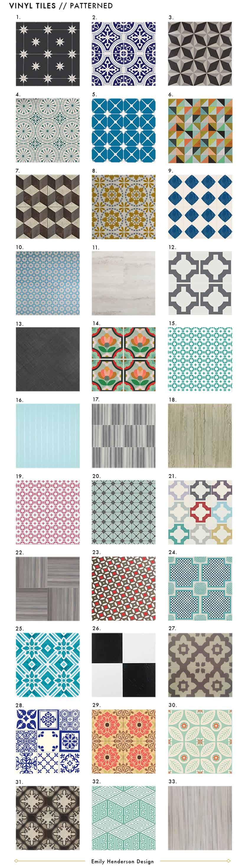 NEW Vinyl Tile Patterened