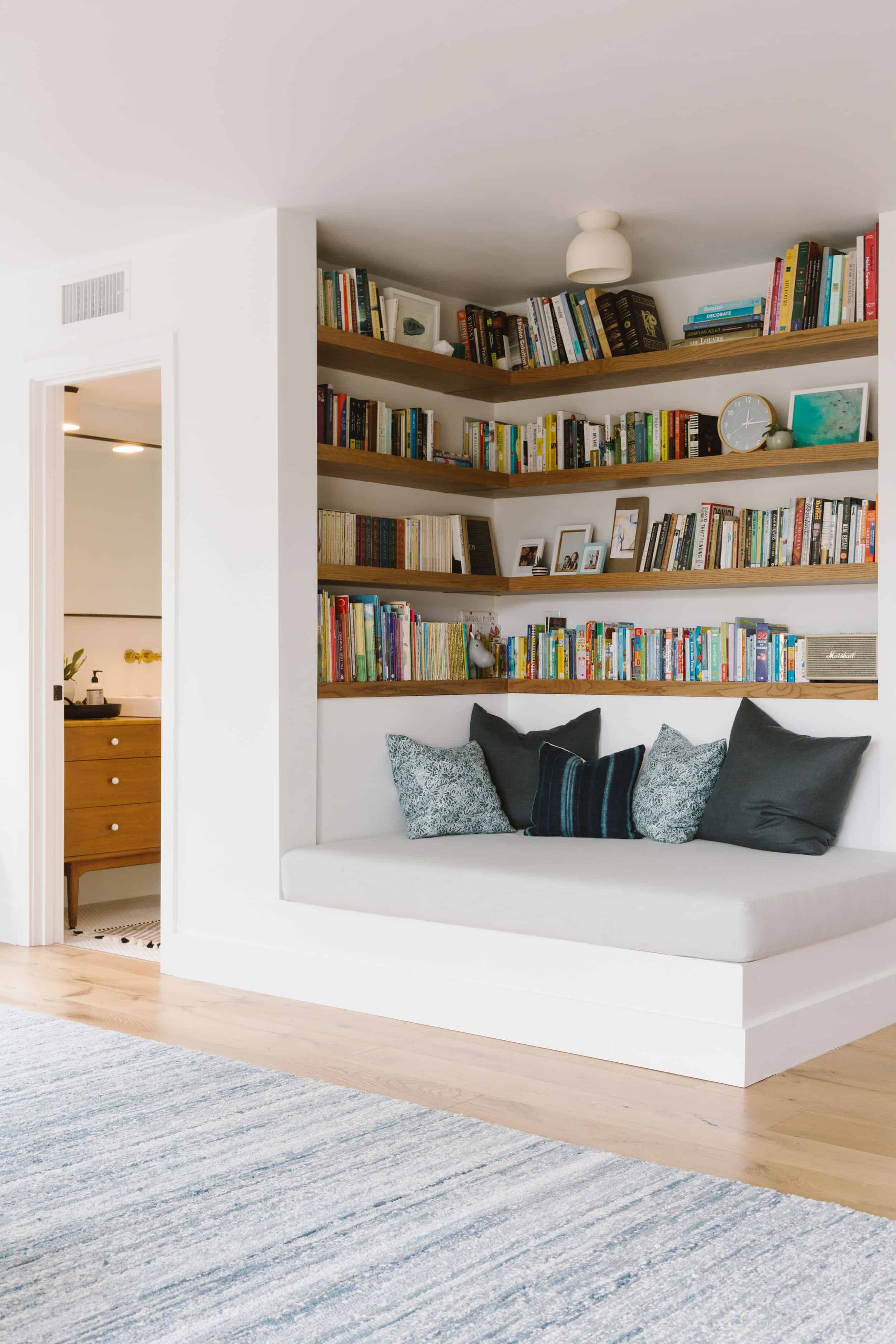 Samantha Gluck Emily Henderson Playroom Reading Corner