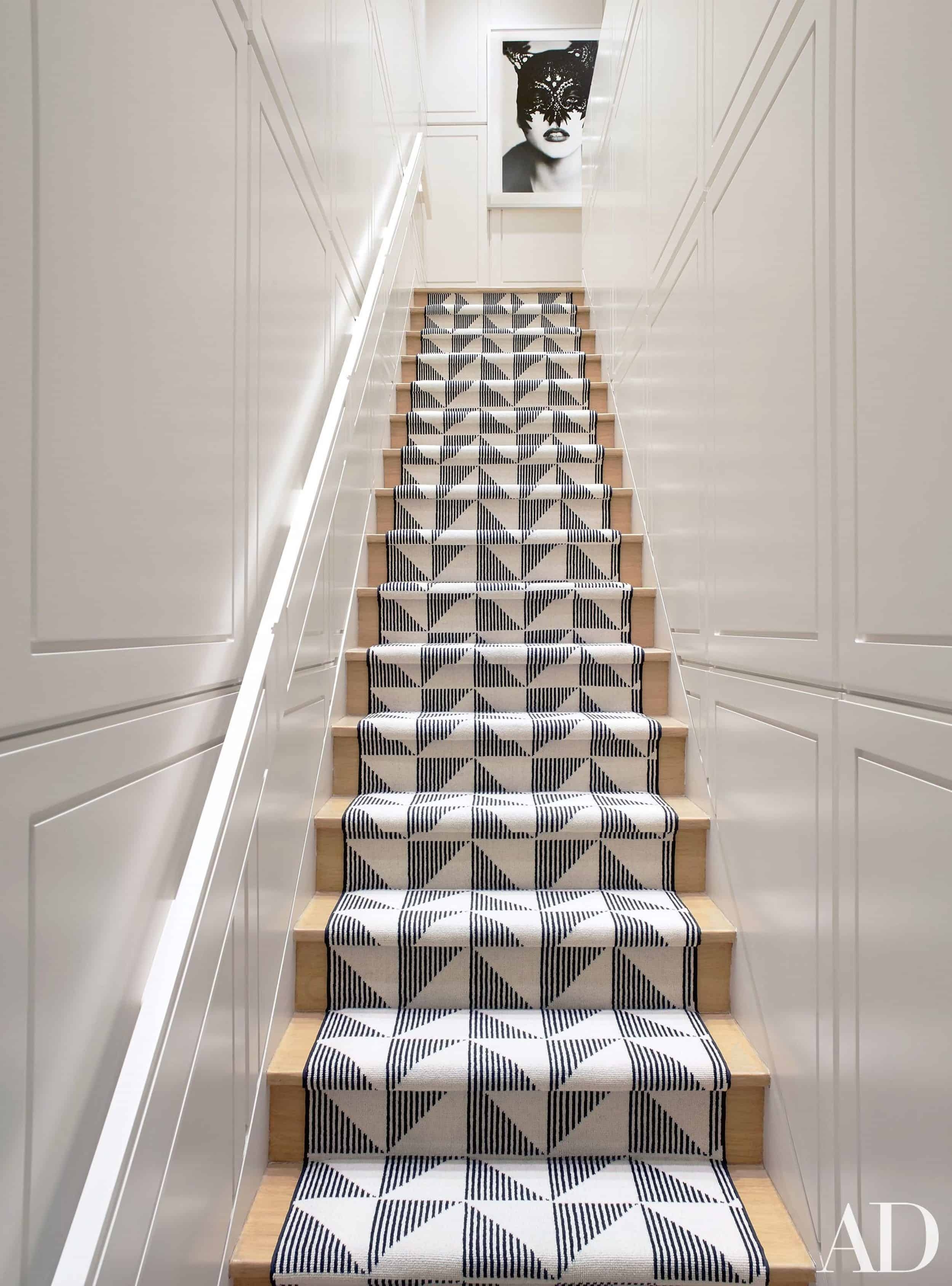 Should I Add A Carpet Or Rug Runner To My Mountain House Staircase | Running Carpet For Stairs | Stair Tread | Hardwood | Wood | Grey | Stair Runners