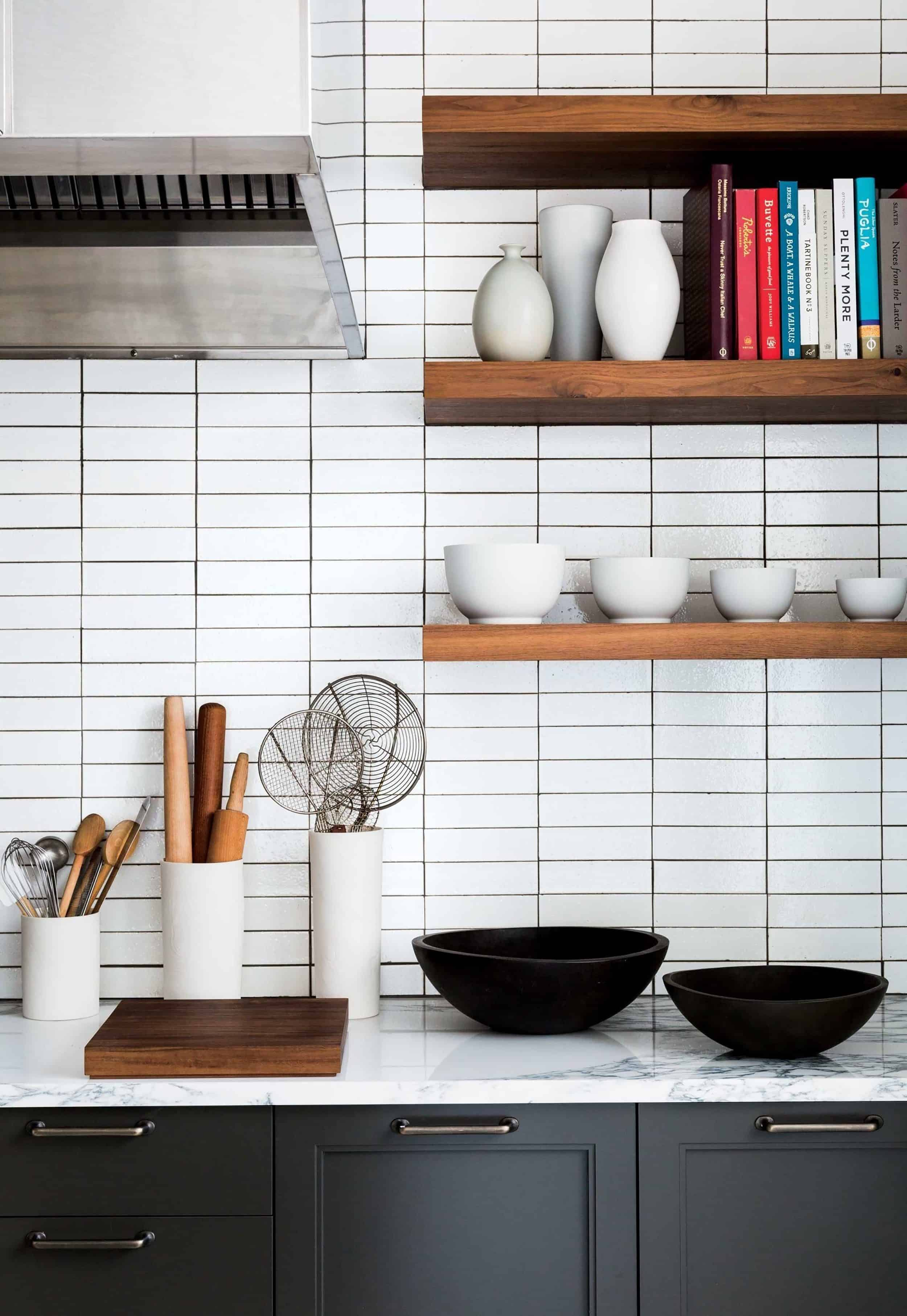 Black And White Subway Tiles Kitchen Designs 57 Home Design Stacked Tile 5 F 739