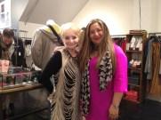 Loyal customer Sue Ennis & Mara Maldonado, Moule Yaletown Store Manager