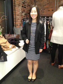 Jenny looked awesome in this Mackage blazer and her Ferragamo flats!