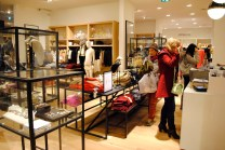 J.Crew shoppers checking out the new store