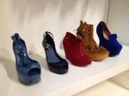 An array of platform shoes