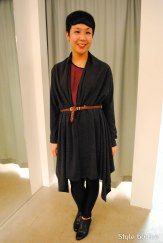 Mary Cardi worn with a belt