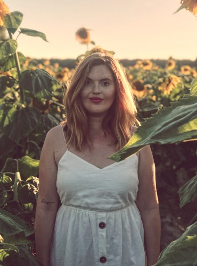 Summer Fields: Sunflowers & White Dress