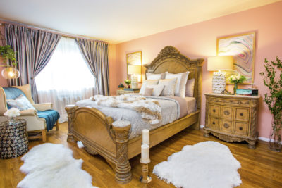 Traditional Master Bedroom in Neutrals and Blush, by Style by Mimi G, Interior Decorator and E-Designer