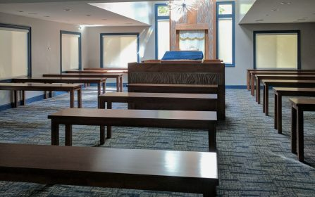 Modern Synagogue designed by Style by Mimi G, interior decorator servicing NY and NJ