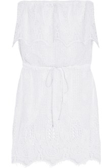 Dylan crocheted cotton-lace coverup