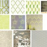Get the Look: Grey + Green Wallpapers