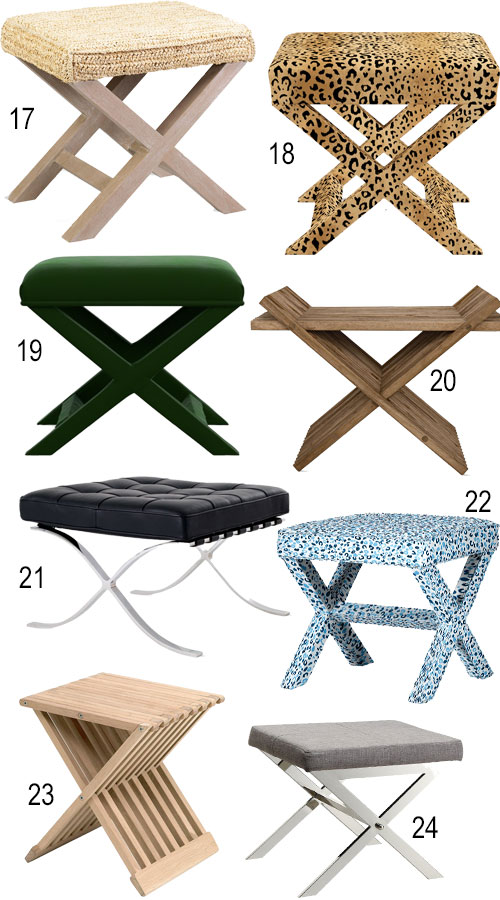X Bench X Stool Footstool Ottoman