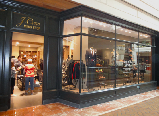 50ab778b ... Mens Shop. Looks a lot like Brooks Brothers to me, from the dark  paneling to the scripty gold logo. Hmm. Guess the women's collection is not  the only ...
