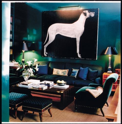 Designer Victoria Hagan Blue Library