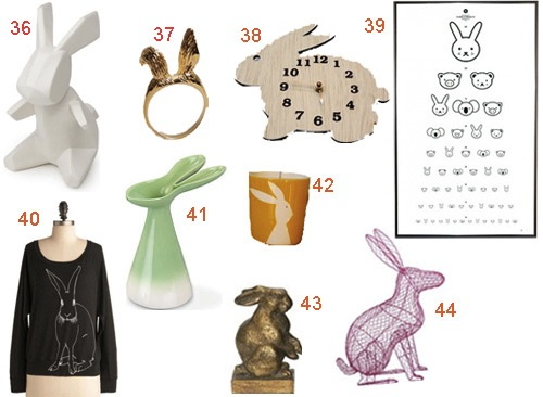 Get the Look: 44 Bunny Rabbit Accessories and Decor - StyleCarrot