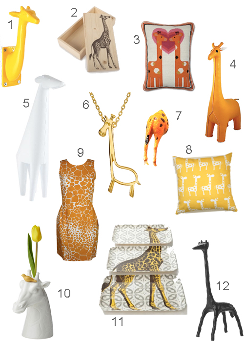 Giraffe Necklace Lamp Pillow Tray