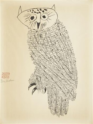 Ben-Shahn-owl-drawing