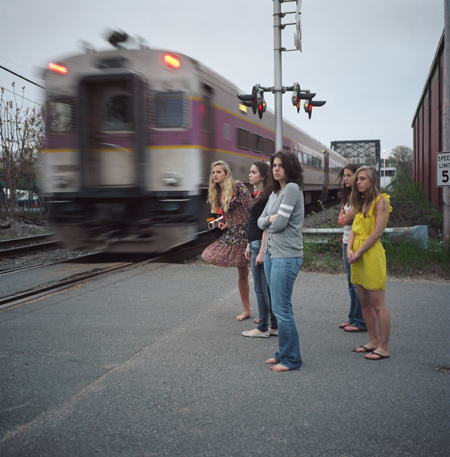 Ranee Palone Flynn Girls Purple Line Train Tracks