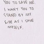 Saturday Say It: (Don't) Rescue Me