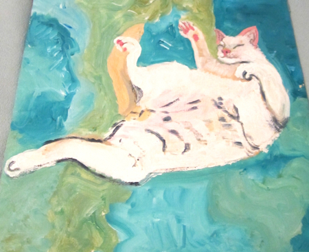 Judyth Honeycutt Katz Oil Painting Cat