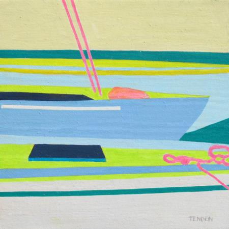 Siri-Tenden-blue-boat-pink-sail