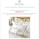 Giveaway: Matouk Linens