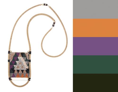 Lizzie Fortunato Jewelry Beaded Pouch Necklace