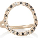 Covet: Brooke Gregson Open Circle Ring with Black Diamonds