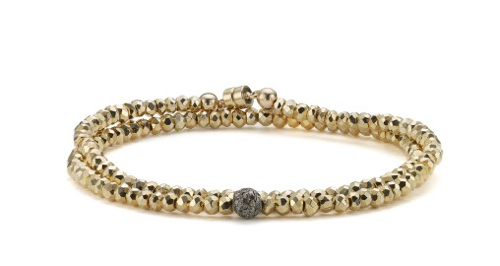 52b9b64ed3c Covet: Pyrite Wrap Bracelet by Sheryl Lowe - StyleCarrot