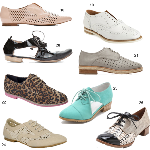 Oxford Shoes For Women Cutouts Brogues