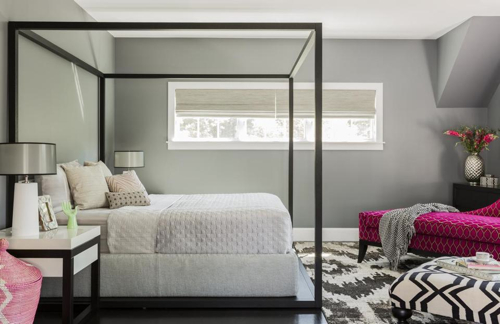Bedroom Designed by Color Theory