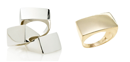 Jessica Biales Sterling Signet Ring