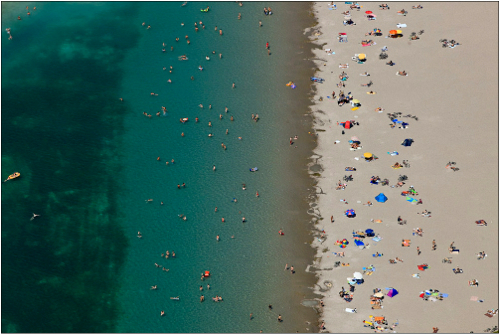 Contempop-Expressions-Galleries_Klaus-Leidorf_Aerial-Beach-I