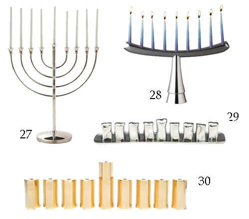 Sterling Silver Menorah Christofle Nambe Brass