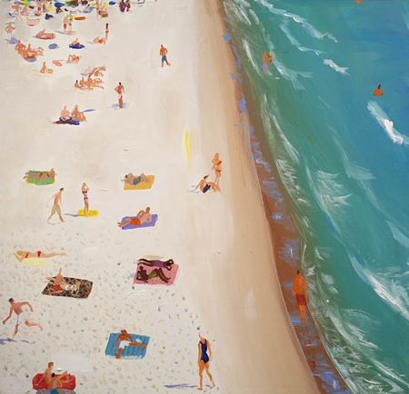 crowded-beach-joe-davis-delray-art