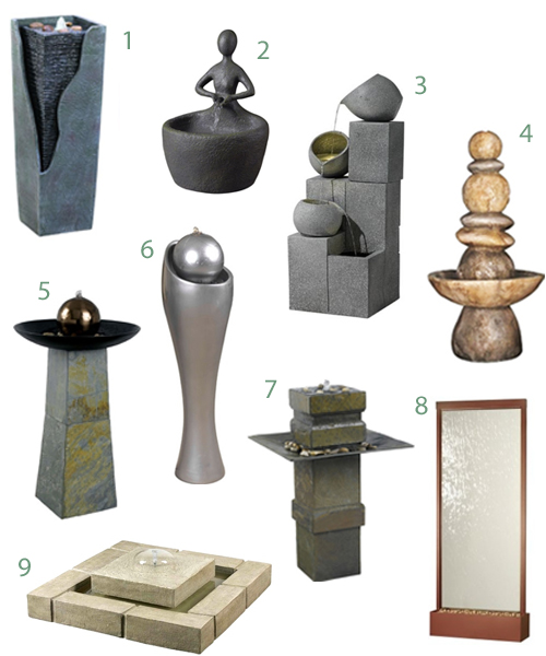 Modern Outdoor Water Fountains Sculptures Garden
