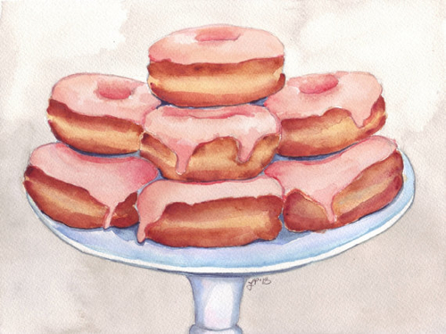 pink-donuts-on-stand