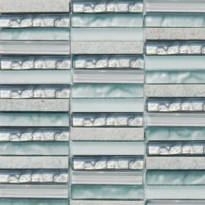 Bathroom Floor Glass  Tiles InBlue