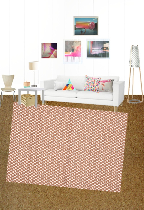 Small Scale Geometric Living Room Rug