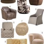 Get the Look: Upholstered Swivel Chairs In Every Color
