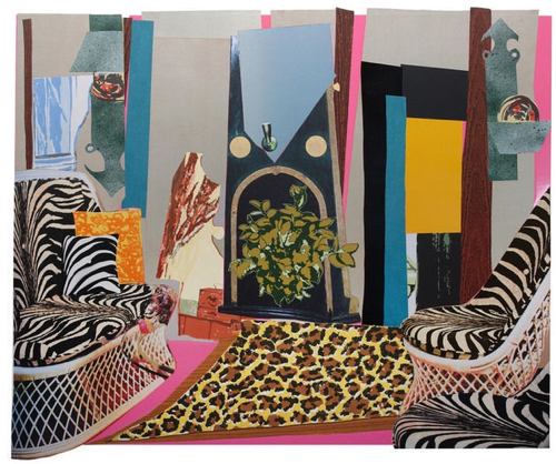mickalene-thomas-interior-zebra-with-two-chairs-and-funky-fur