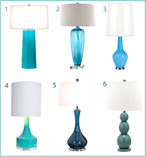 Turquoise Table Lamps Wayfair