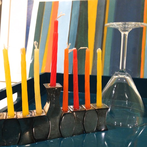 Modern Menorah From MoMA Store Tray From CB2