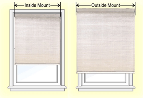 Blinds Inside V Outside Mount