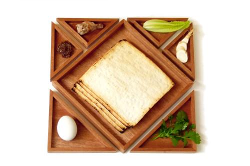 tangram seder plate square