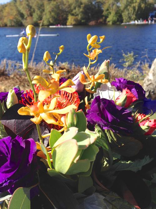 Jewel Toned Fall Floral Arrangement