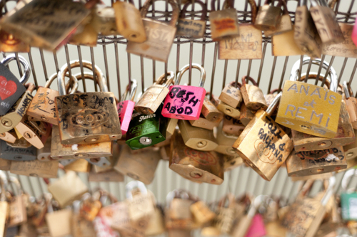 Love Locks Paris Photo By Tess Atkinson